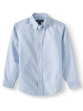 WIYOSHY Boys Button Down Long Sleeve Cotton Shirts Kids 4-14 Years