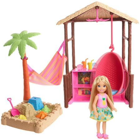 Barbie Chelsea Doll Tiki Hut Playset with Moldable Sand](Chelsea Smile)