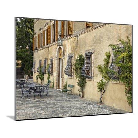 Outdoor Patio Tuscany Italy Wood Mounted Print Wall Art By Adam Jones