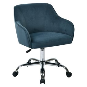 Serta Style Leighton Home Office Chair Blue Twill Fabric Walmart Com Walmart Com