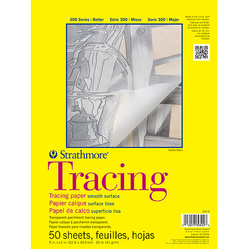 "Strathmore Tracing Paper Pad, 11"" x 14"", 25lb, 50 Sheets"