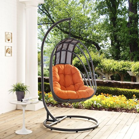 Modway Whisk Outdoor Patio Swing Chair With Stand Multiple Colors Available