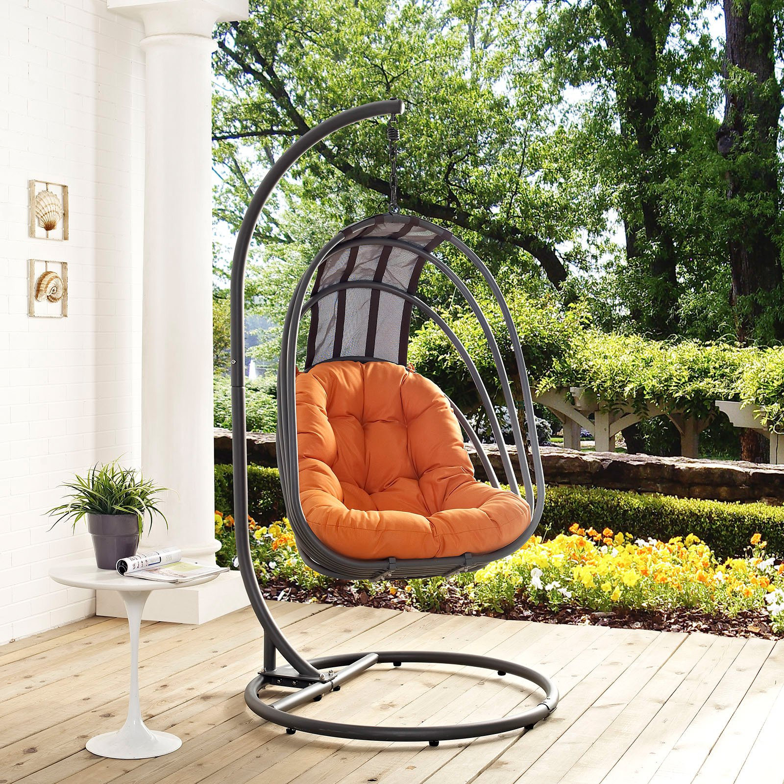 Modway Whisk Outdoor Patio Swing Chair With Stand, Multiple Colors Available