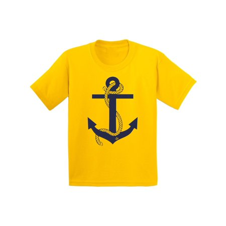 Awkward Styles Anchor Youth T Shirt Captain Style Anchor Shirts for Kids Marine T-Shirt for Boy Sea Shirt for Girl Unisex Clothes Children's Themed Birthday Party Little Sailor Cute Clothing](Little Girls Birthday Themes)