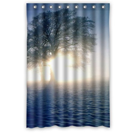 MOHome Beautiful Tree Shower Curtain Waterproof Polyester Fabric