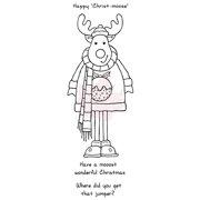 """Woodware Clear Stamps 8""""X3""""-Christmoose"""