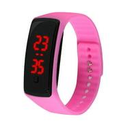 GeweYeeli Kids Women Men LED Bracelet Silicone Date Digital Outdoor Sport Clock Watch Wristwatch Toy Boy Girls Birthday Gift