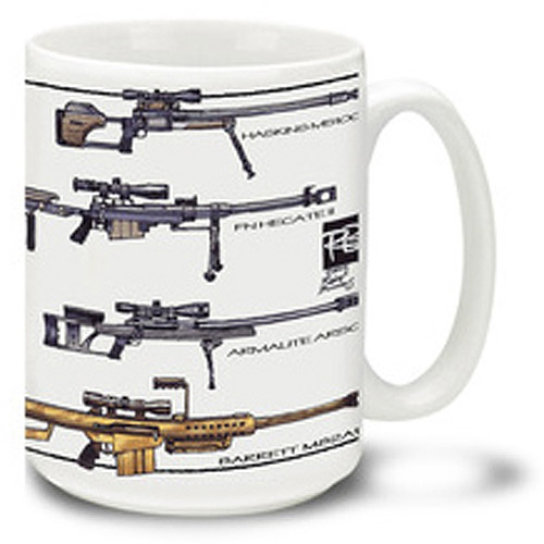 Cuppa 15-Ounce Coffee Mug with .50 Cal BMGs