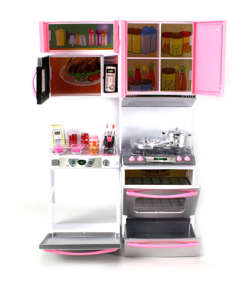 Deluxe Modern Kitchen\' Battery Operated Toy Kitchen Playset, Perfect ...
