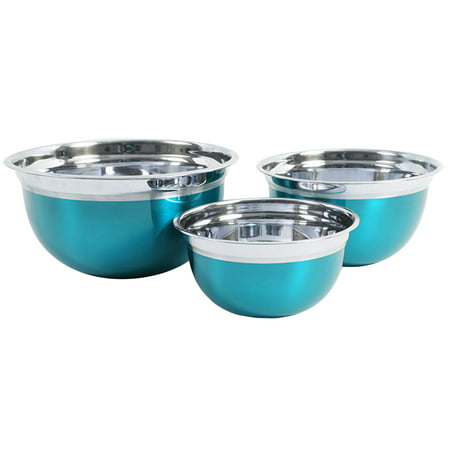 Oster Mixing Bowl (Oster Rosamond 3-Piece Round Mixing Bowl, Metallic Turquoise )