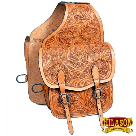Hilason Western Heavy Duty Leather Cowboy Trail Ride Horse Saddle Bag