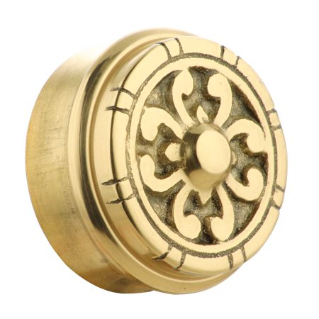 Polished Brass End (Fits 2 inch Polished Solid Brass Fits 2 in. RSF Brass Decorative End P)