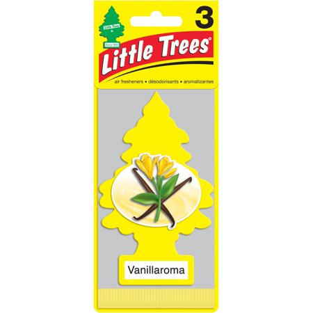 Little Trees Car Air Freshener, Vanillaroma, 3 pk