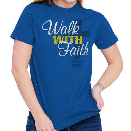 Walk With Faith Jesus Christ Christian Love T Shirt Tee