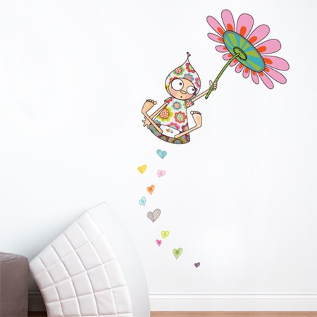 ADZif Ludo Violette Takes Flight Wall Decal (Violette Stickers)