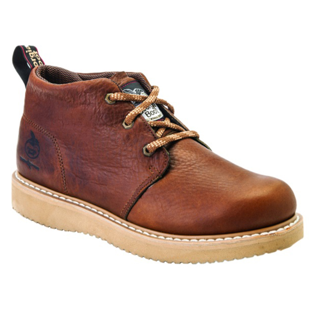 Georgia Boots Mens Steel Toe Wedge Chukka Boot