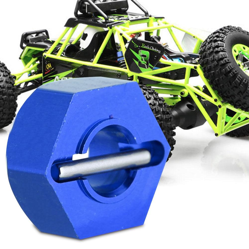 Alum 0044 Wheel Hex Drive Adaptor /&Pin 4P Black Fit RC WLtoys 1:12 Climbing Car