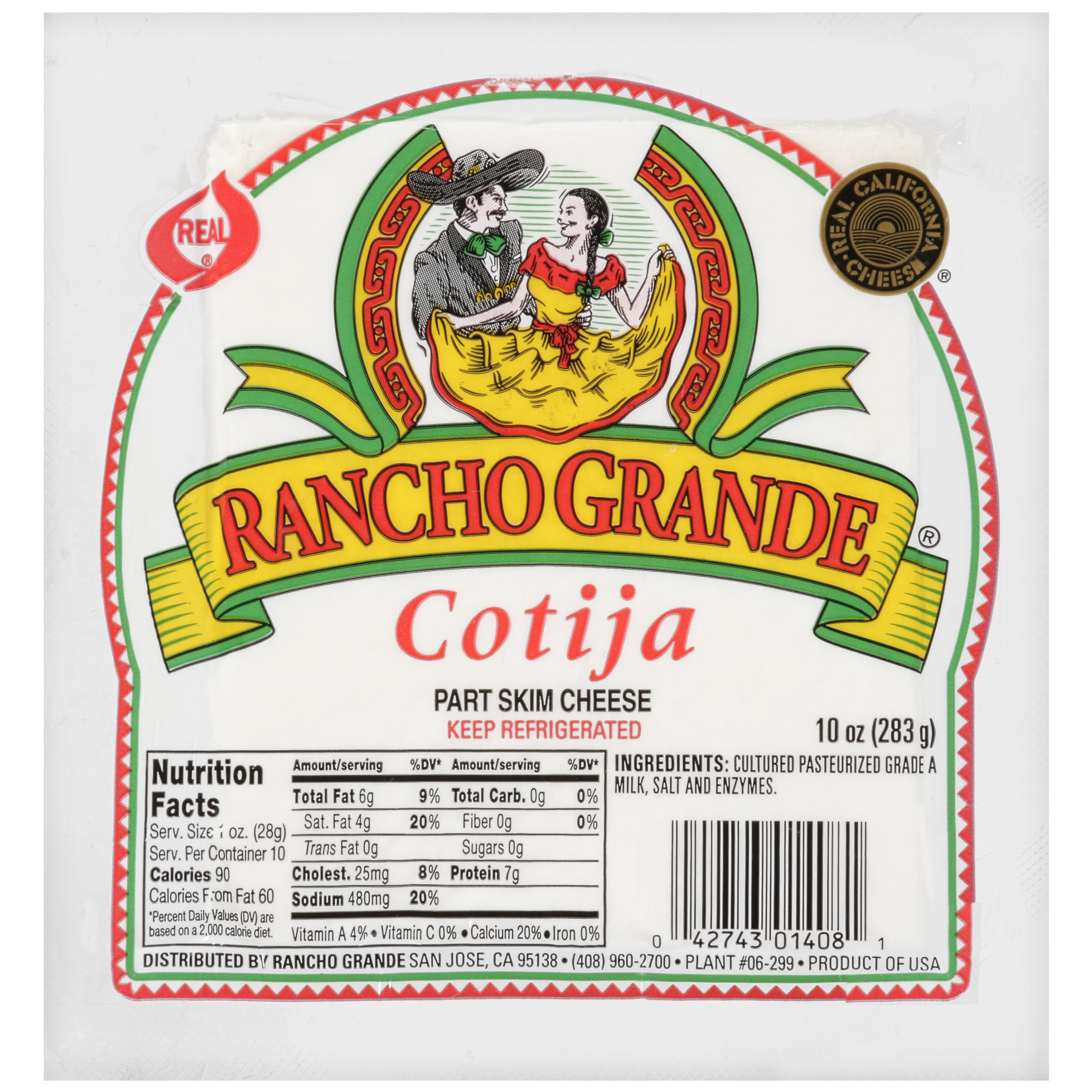 Rancho Grande Part Skim Cotija Cheese, 10 oz