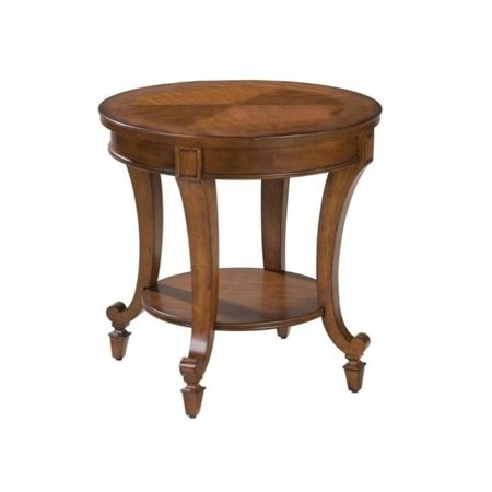 Beaumont Lane Round End Table in Cinnamon ()