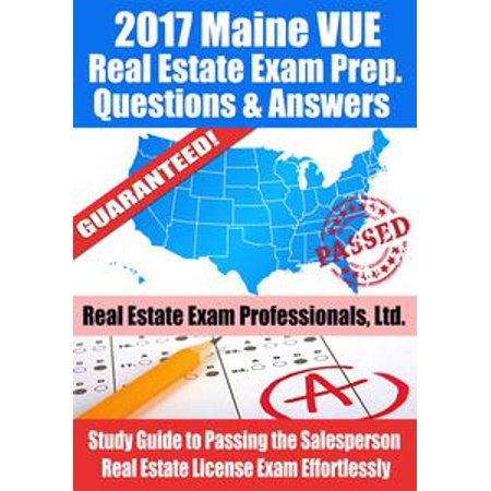 2017 Maine VUE Real Estate Exam Prep Questions, Answers & Explanations: Study Guide to Passing the Salesperson Real Estate License Exam Effortlessly - eBook - The Maine Halloween 2017