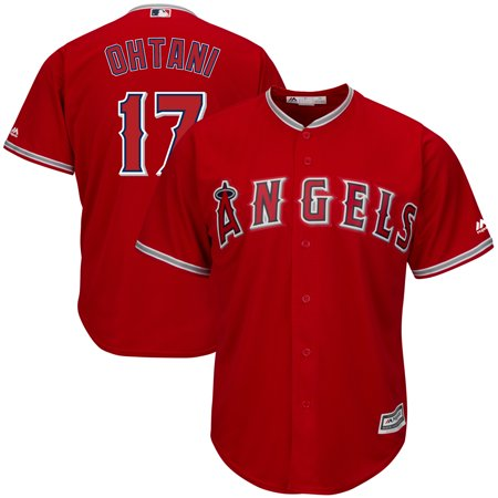 Shohei Ohtani Los Angeles Angels Majestic Alternate Official Cool Base Replica Player Jersey - Scarlet