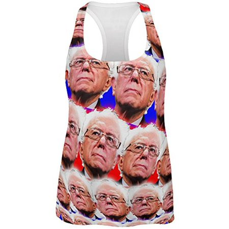 Election Bernie Sanders Face the Future 2016 All Over Womens Racerback Tank Top (Colonel Sanders Suit)