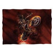 Trevco AS125FB-PLO1-0 Anne Stokes & Hellrider Front & Back Print-Pillow Case, White - 20 x 28 in.