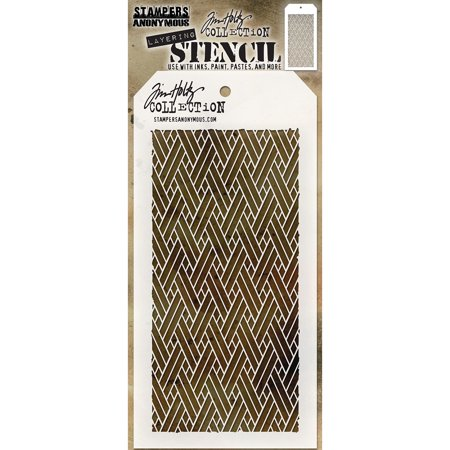 """Tim Holtz Layered Stencil 4.125""""X8.5""""-Woven - image 1 of 1"""