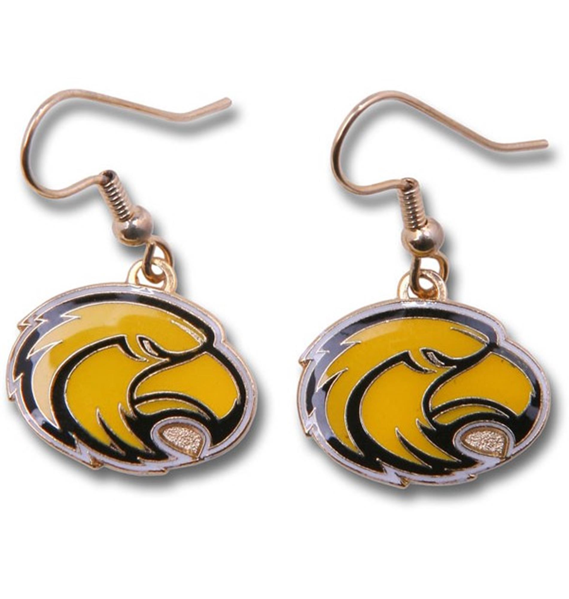 Aminco NCAA Southern Mississippi Dangle Earrings w/Gift Box