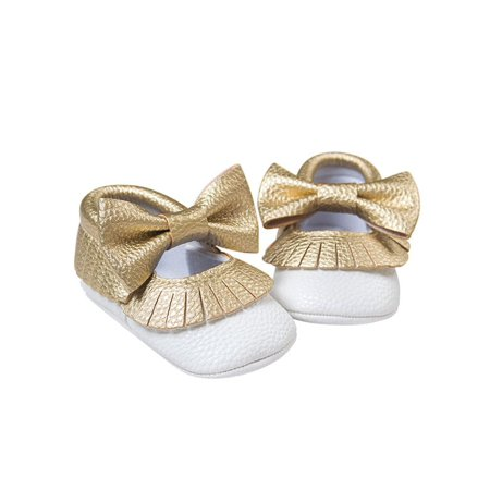 Infant Cute Baby Girl Soft Soled PU Leather Shoes 0-18M ()
