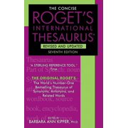 The Concise Roget's International Thesaurus (Edition 7) (Paperback)