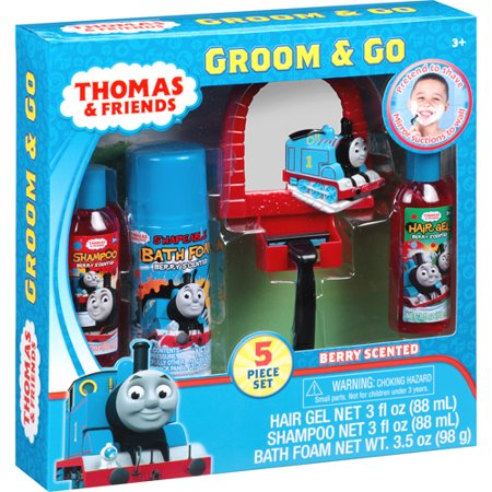 Thomas train groom n go bath sets walmartcom for Thomas the train bathroom set