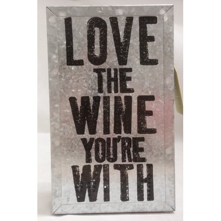 Download Life is Bright Love the Wine You're With Metal Wall Art ...
