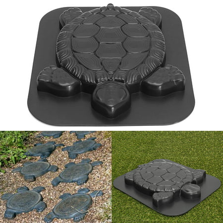 Creative Concrete Cement Mold, Turtle/Flower Design Stepping Stone Mould Paving Mold for Garden Park Path Walk Way ()