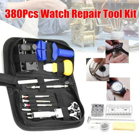 380Pcs Watch Repair Tool + Back Case Band Strap Opener Remover Spring Pin Bars - image 11 de 11