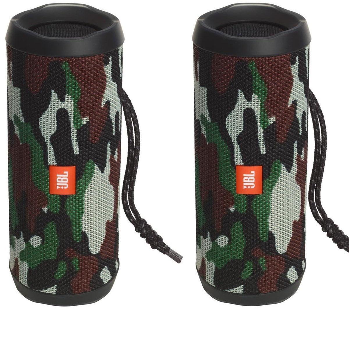 JBL Flip 4 Waterproof Portable Bluetooth Speaker (Camouflage) Pair by JBL