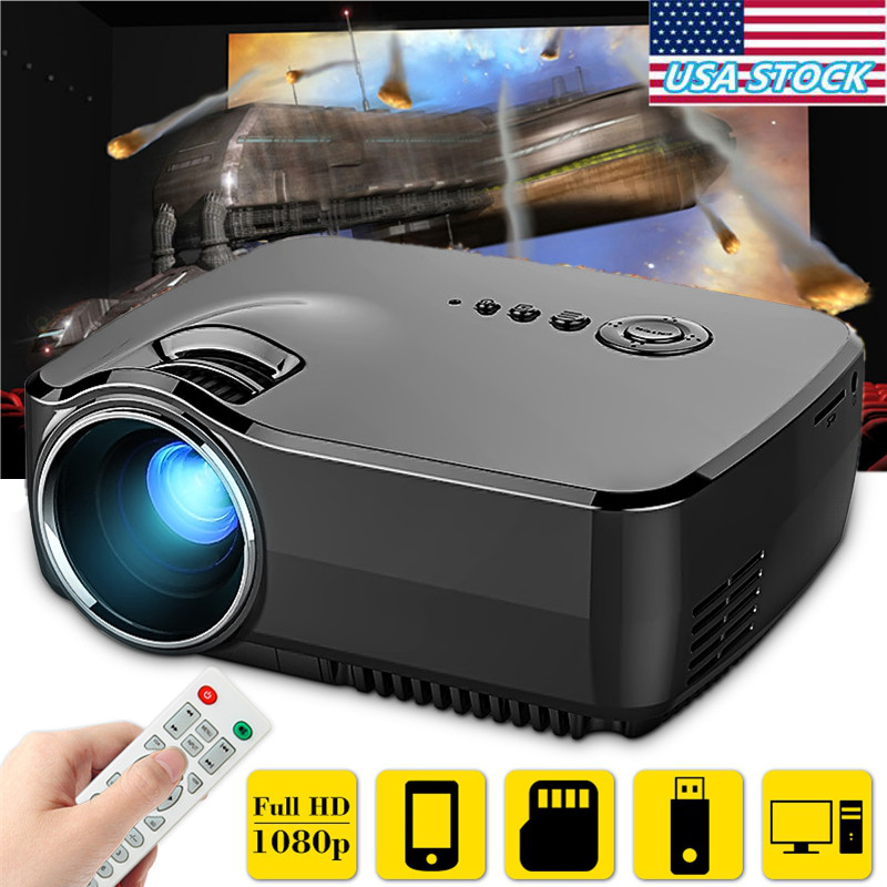 GP70 1200 Lumens Portable LED Projector Compatible Full H...