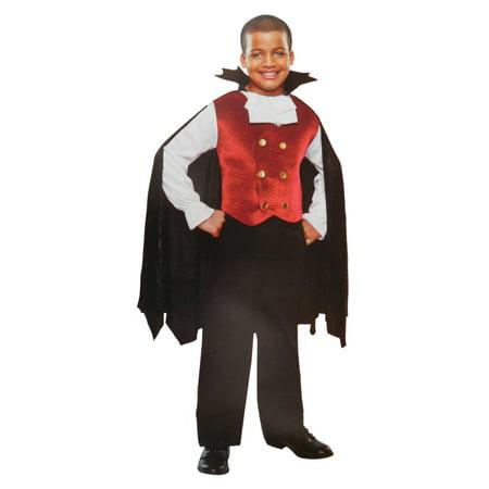 Boys Count Dracula Child Vampire Halloween Costume Medium 6-8 (Halloween Stores Ct)