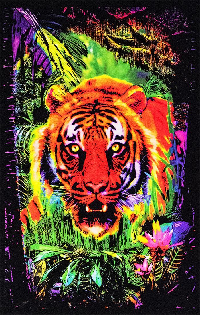 Jungle Tiger Blacklight Poster 23 x 35
