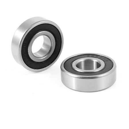 2 Pcs 17mm x 40mm x 12mm Silver Tone Deep Groove Ball Bearing 6203RS - image 1 of 1