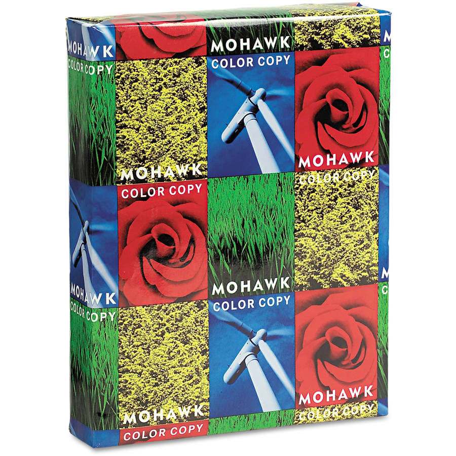 "Mohawk Color Copy Paper, 98 Brightness, 8-1/2"" x 11"", Bright White, 500 Sheets/Ream"