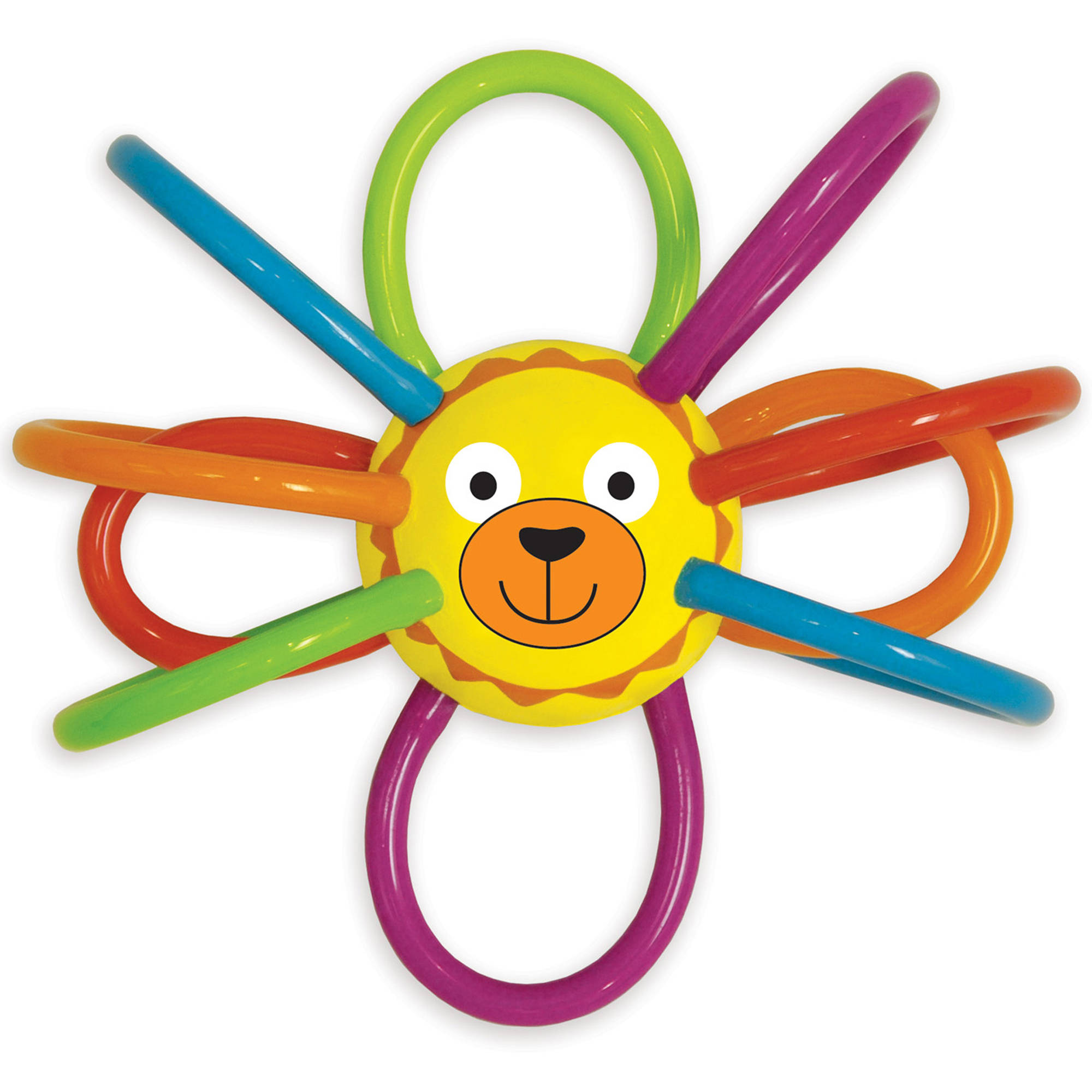 Manhattan Toy Zoo Winkels Lion Teether and Rattle Baby Toy