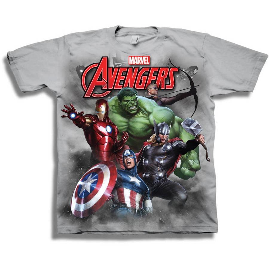 Marvel Avengers Boys' Short Sleeve Graphic Tee T-Shirt ...