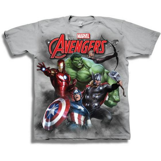 5112d609d87 Avengers - Marvel Comics Marvel Avengers Boys  Short Sleeve Graphic Tee T- Shirt - Walmart.com