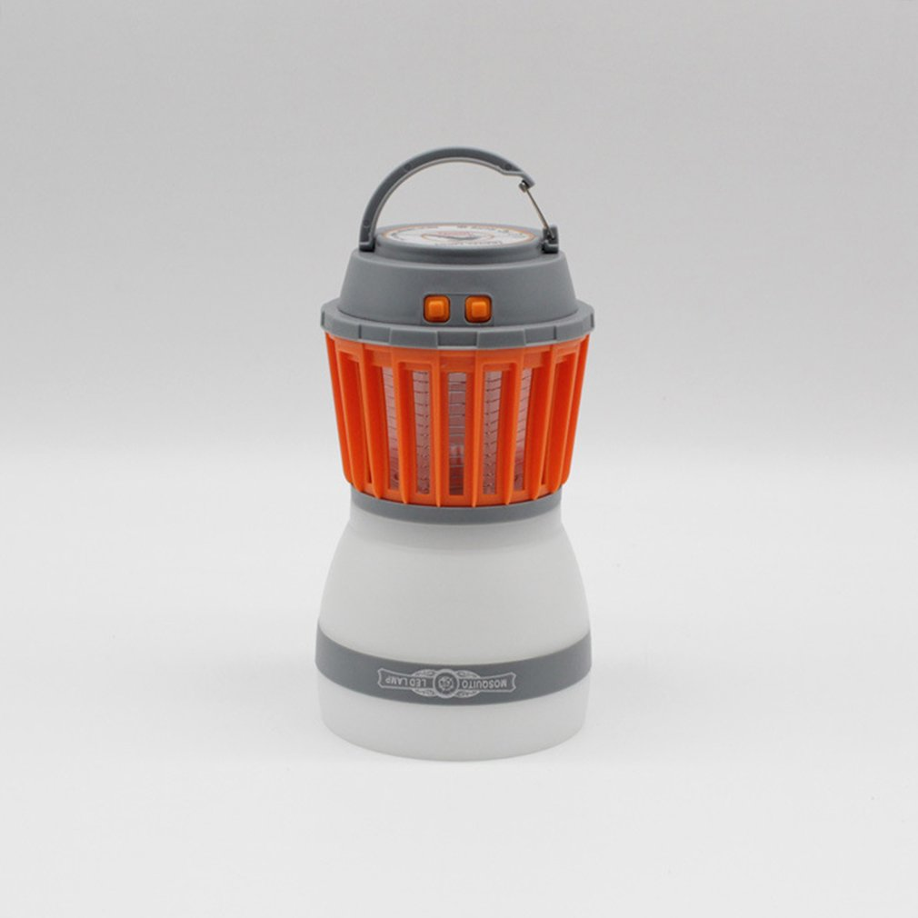 Electric Mosquito Killer Camping LED Lantern Lamp Trap Insect Zapper Orange