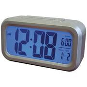 Westclox Smart Blacklight Alarm Clock With Large Digital LCD Display, 5.25W x 1.75D x 3H In.