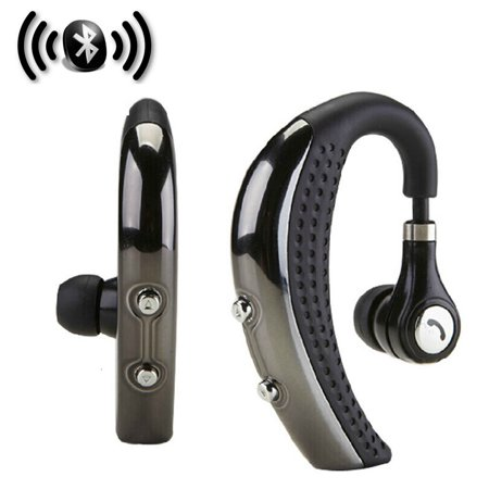 Wireless Bluetooth V4.0 Earphone HD Stereo with MIC Microphone Noise Cancelling Business Earbuds Headset Headphone for Cell Phone iPhone X 8 7 6 6S Plus Samsung S9/S9 Plus S10/S10E ()