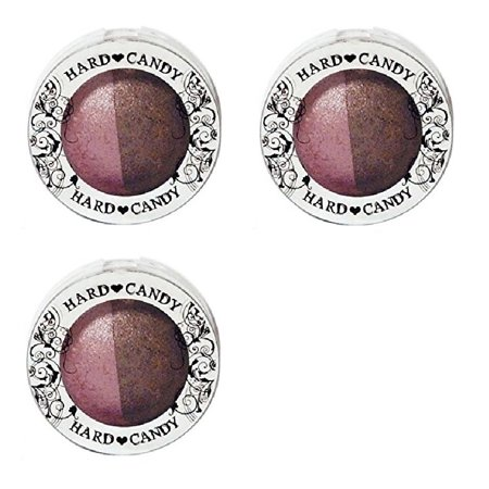 Hard Candy Kal-eye-descope Baked Eyeshadow Duo ROCK N ROLL (Pack of 3) + Yes to Coconuts Moisturizing Single Use