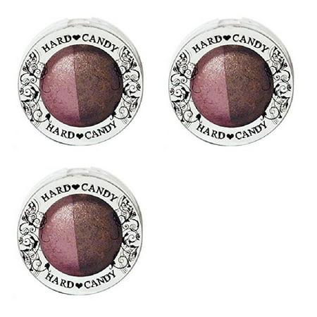 Hard Candy Kal-eye-descope Baked Eyeshadow Duo ROCK N ROLL (Pack of 3) + Makeup Blender Stick, 12