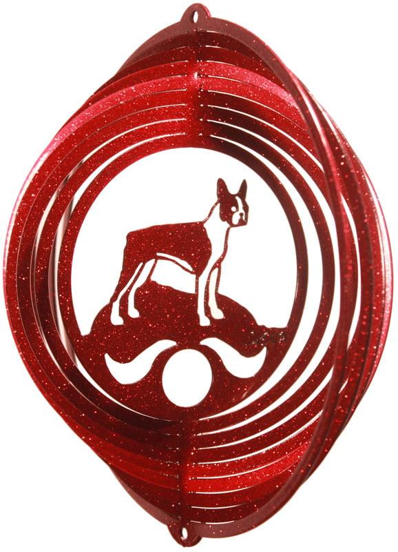 SWEN Products BLOOD HOUND Dog Circle Swirly Metal Wind Spinner